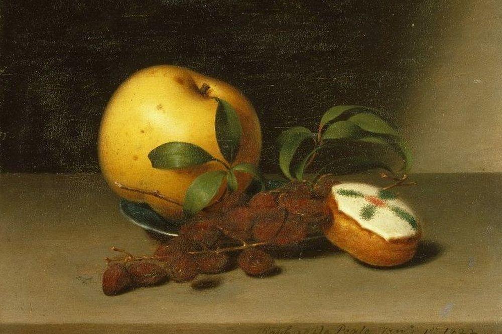 Рафаэль Пил. Натюрморт с пирожным. 1822