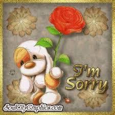 Извиняюсь! Щенок с цветком