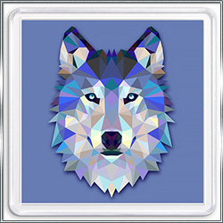 Магнит сувенирный Графика Волк