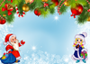 A delightful background for cards for the winter holidays