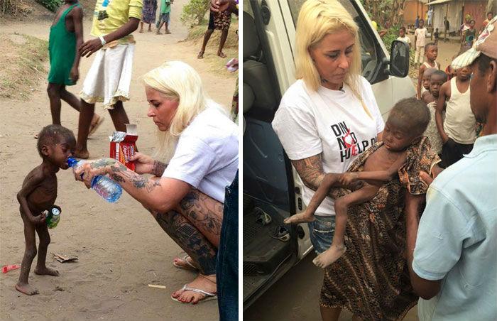 Женщина спасла 2-летнего нигерийского мальчика, на которого никто не обращал внимания, несмотря на е