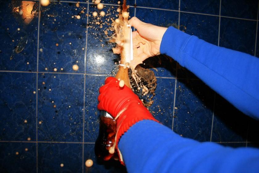 16. «Зажигательная» смесь Ну и, конечно же, можно засунуть в бутылку с колой «Ментос» и потрясти. Он