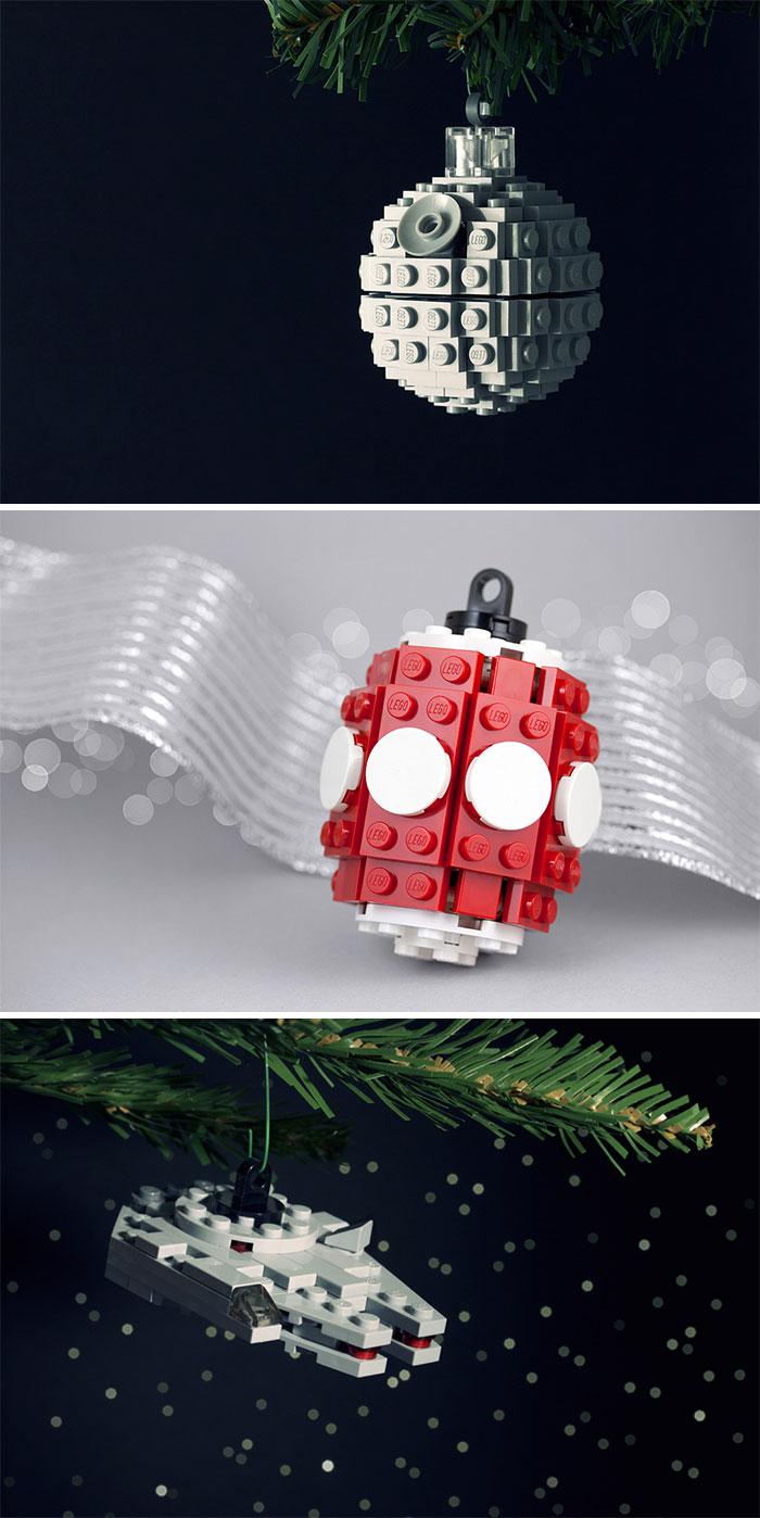 Елочные игрушки на новогоднюю елку, в том числе по мотивам «Звездных войн».