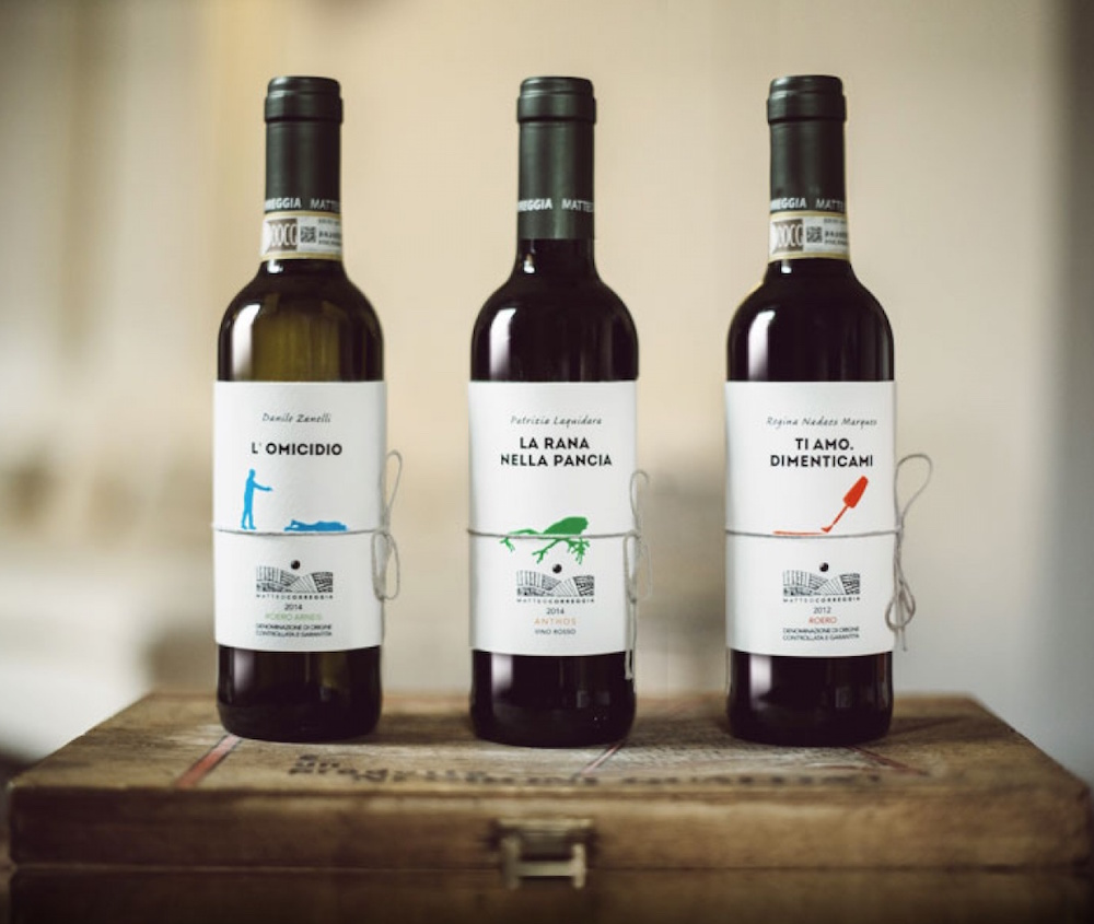 Printed Short Stories That Double as Wine Bottle Labels