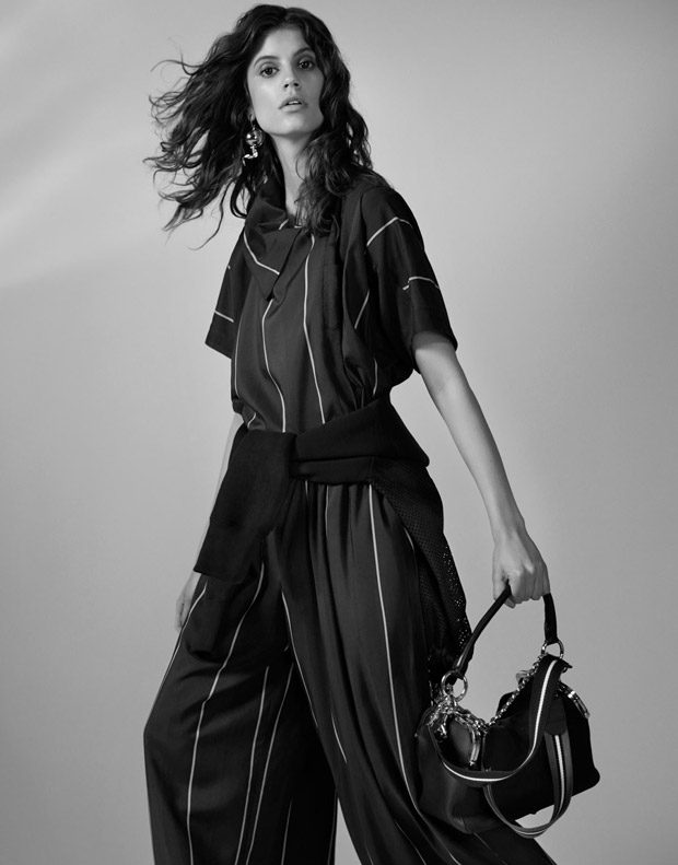 Top Model Antonina Petkovic Poses in Sacai Looks for The Edit Magazine