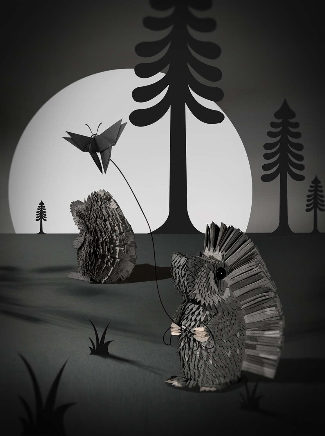 The papercut illustrations by Lisa Lloyd