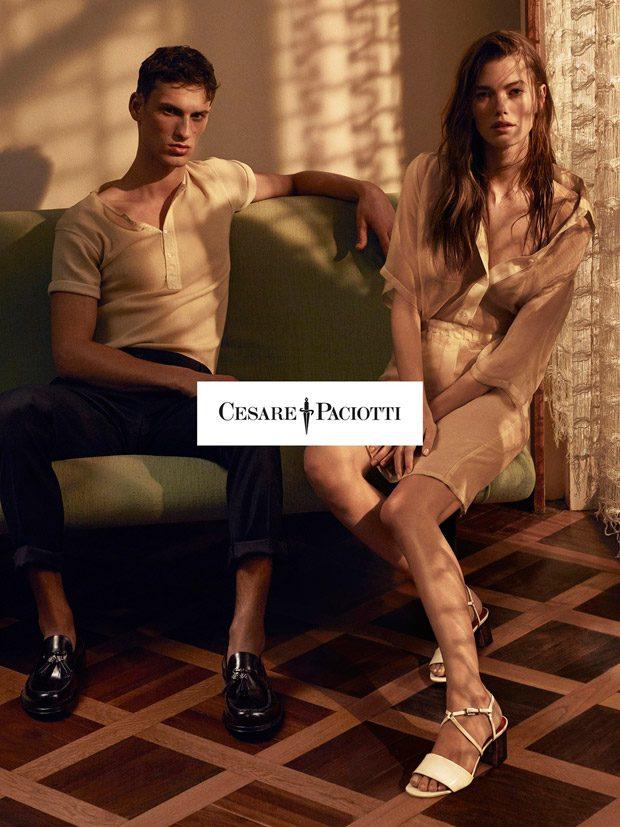 Cesare Paciotti Spring Summer 2017 featuring Mathilde Brandi & David Trulik (6 pics)