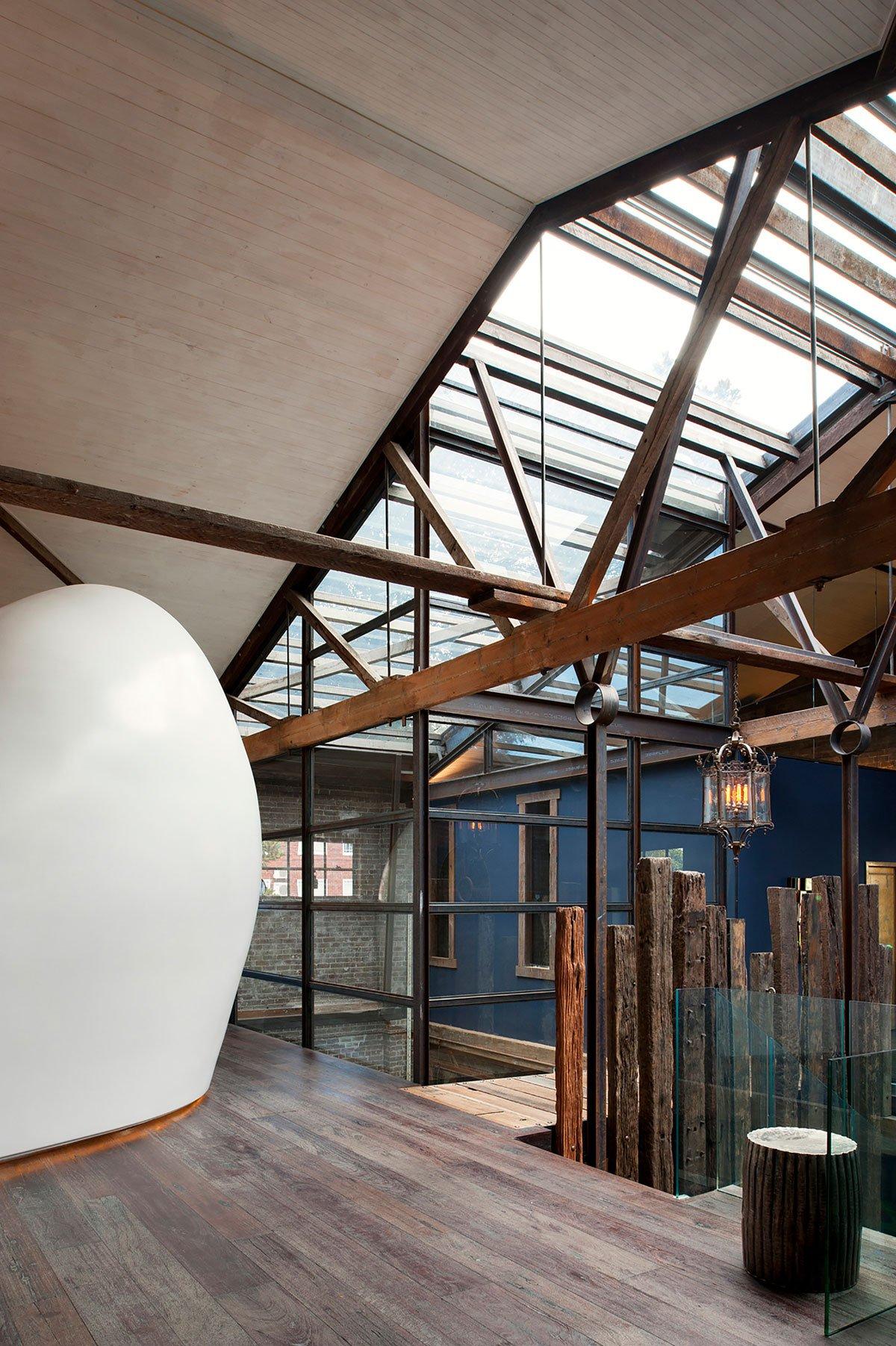 Стеклянная крыша частного дома