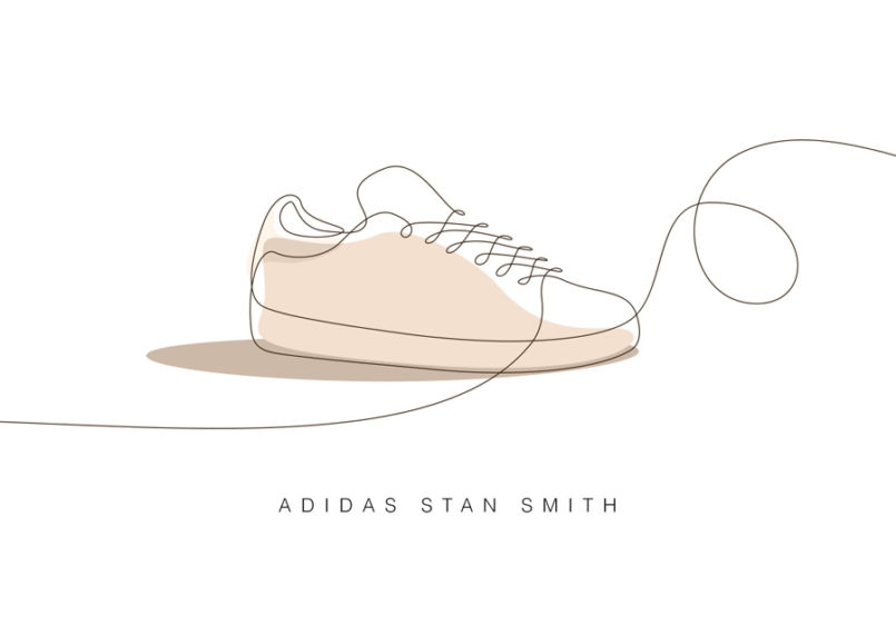 Memorable Sneakers: One Line Illustrations by Differantly