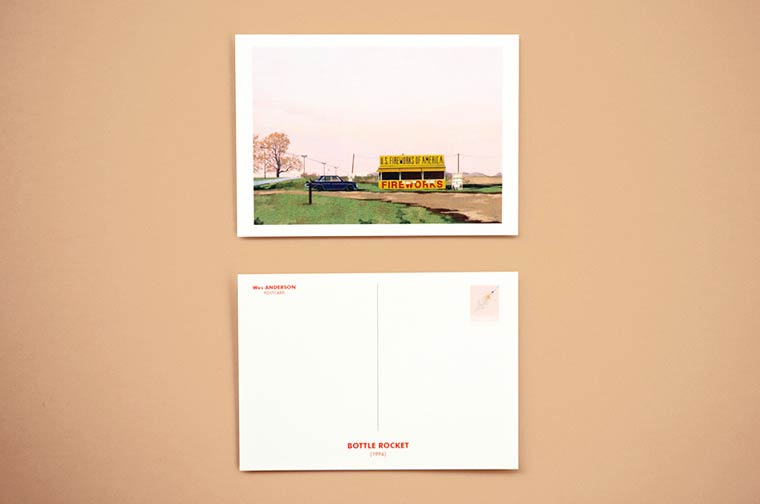 Beautiful postcards in tribute to the cult locations from Wes Anderson movies
