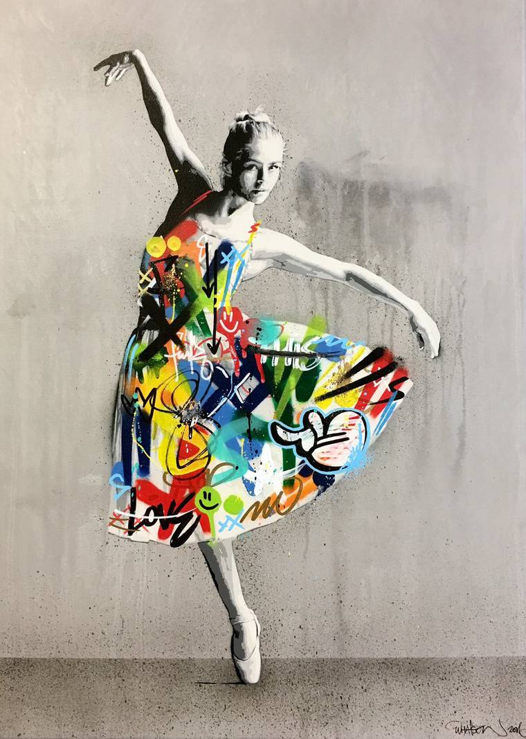 Atras da cortina - As ultimas criacoes do artista de rua Martin Whatson