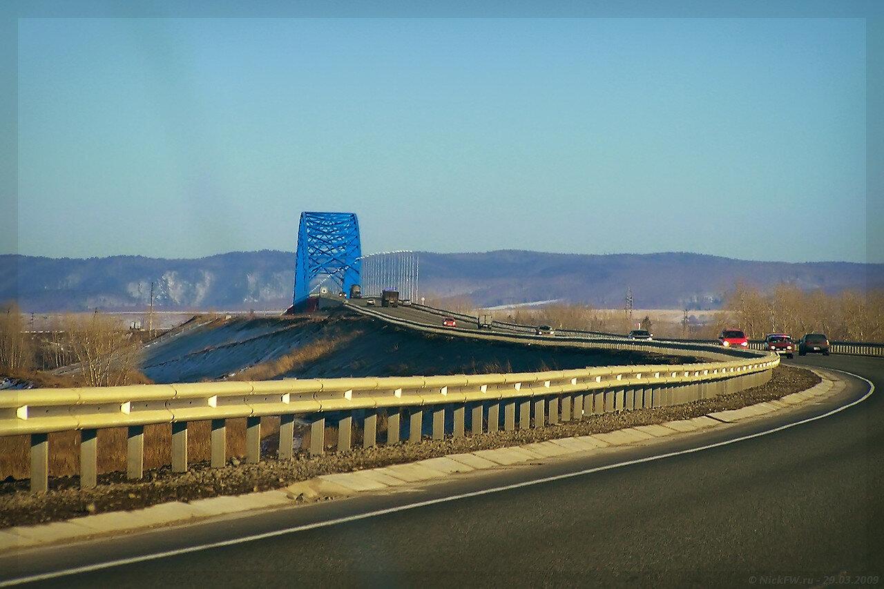 М53 - Мост через Енисей - северный объезд Красноярска (© NickFW - 29.03.2009)