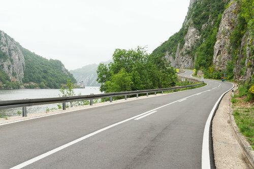 шоссе 34 вдоль Дуная, Джердапское ущелье