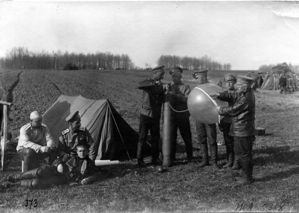 Запуск шара-пилота. 1914