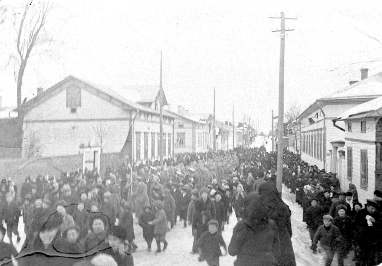 Празднование Февральской революции в Уусикаупунки