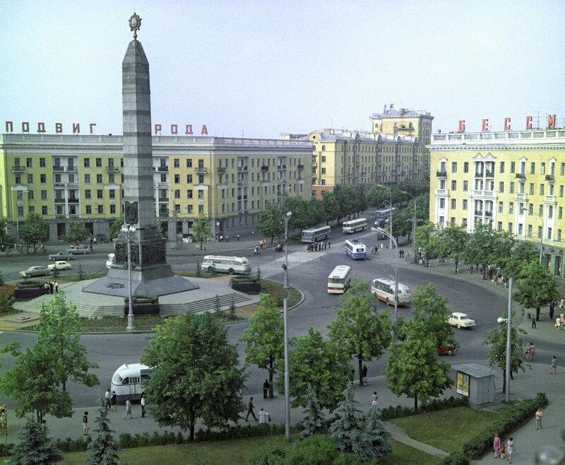1970 Площадь Победы в Минске. В. Кунов.jpg