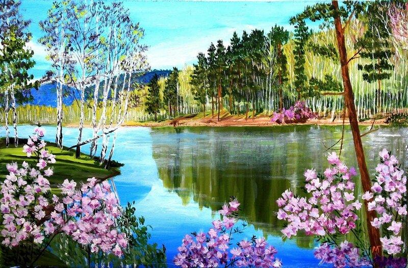 Майнское озеро. Весна