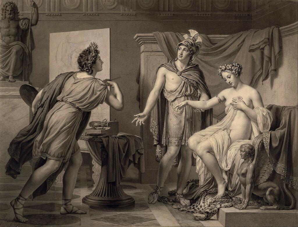 1819 Jеrоme-Martin Langlois (French -Александр уступает Кампаспу  Апеллесу.jpg