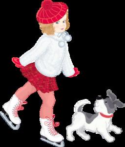 фигуристка и собачка