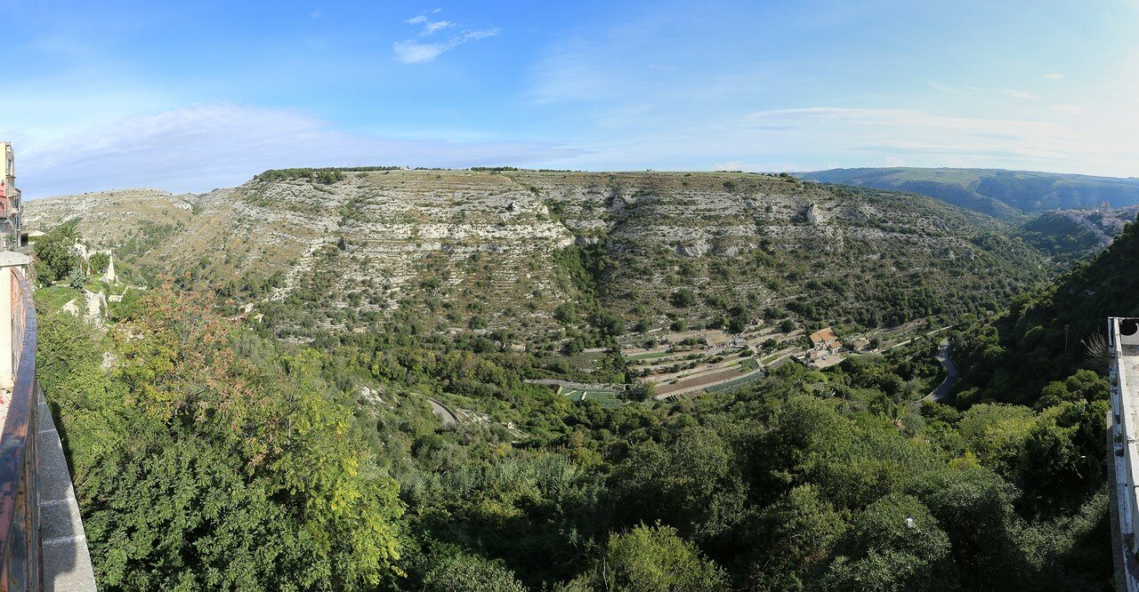 Ragusa. San Leonardo Canyon. View from the Belvedere