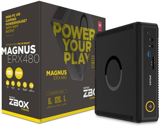 Игровой неттоп ZOTAC ZBOX Magnus ERX480 получил графику AMD Radeon