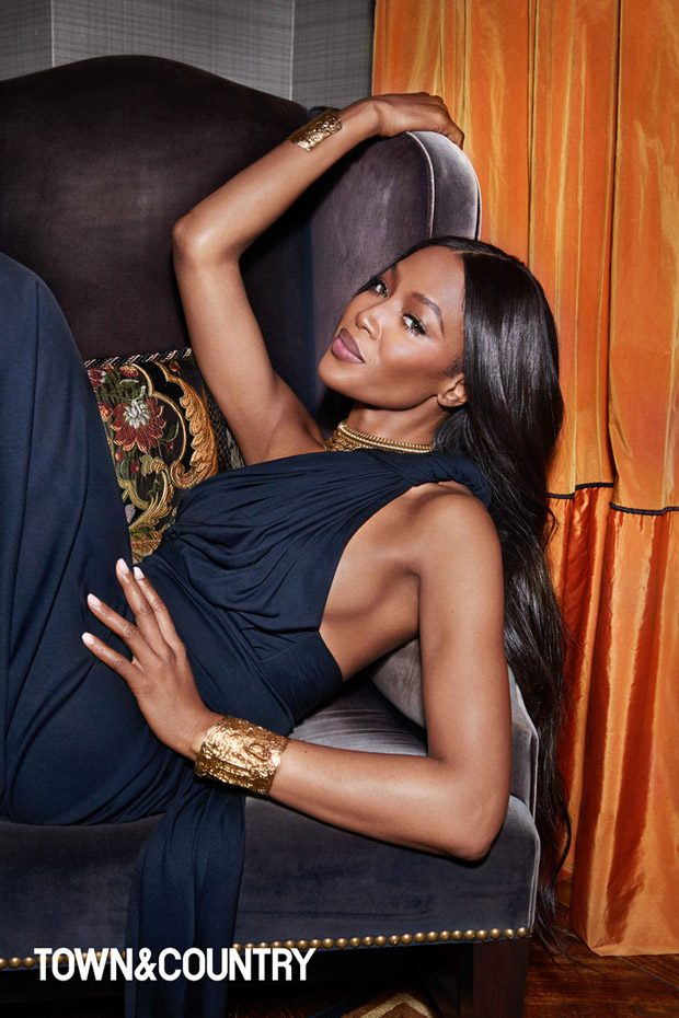 Naomi Campbell Stuns for Town & Country March 2017 Cover Story
