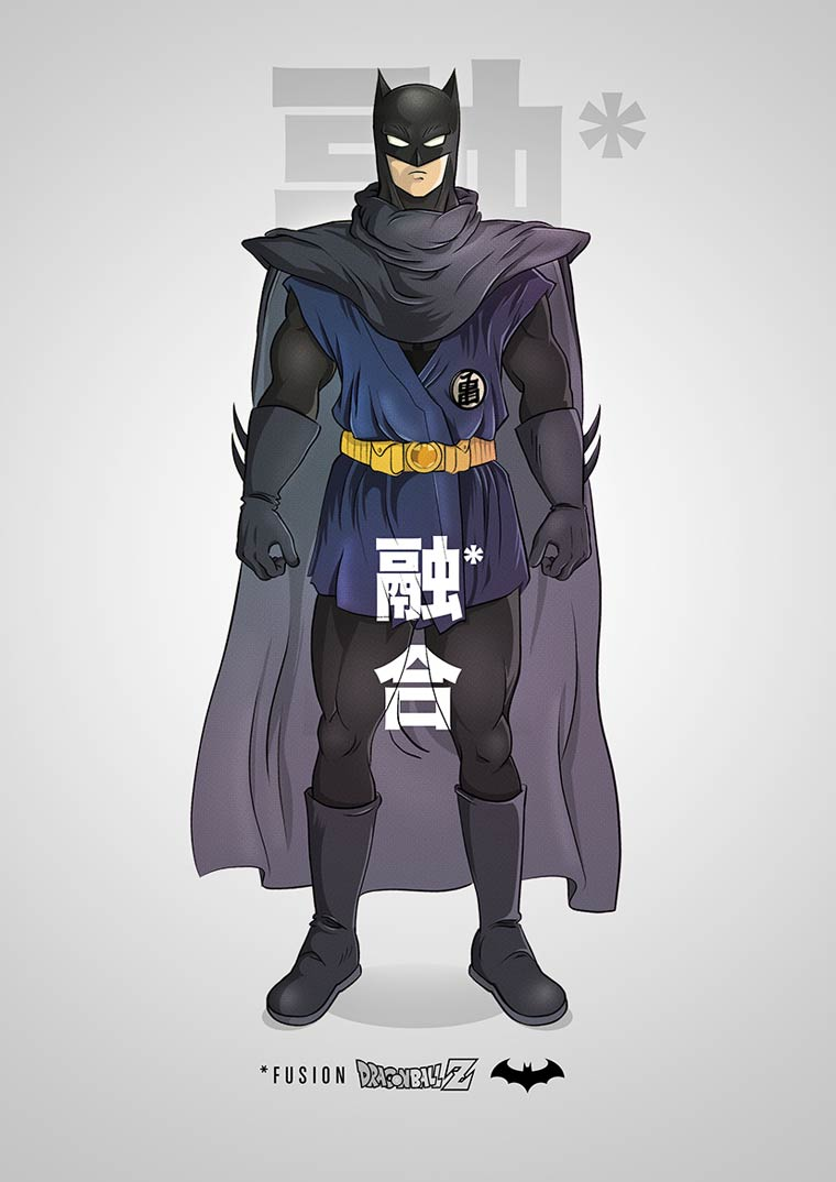 When Batman meets Dragon Ball Z in the pop culture mashups by PIM