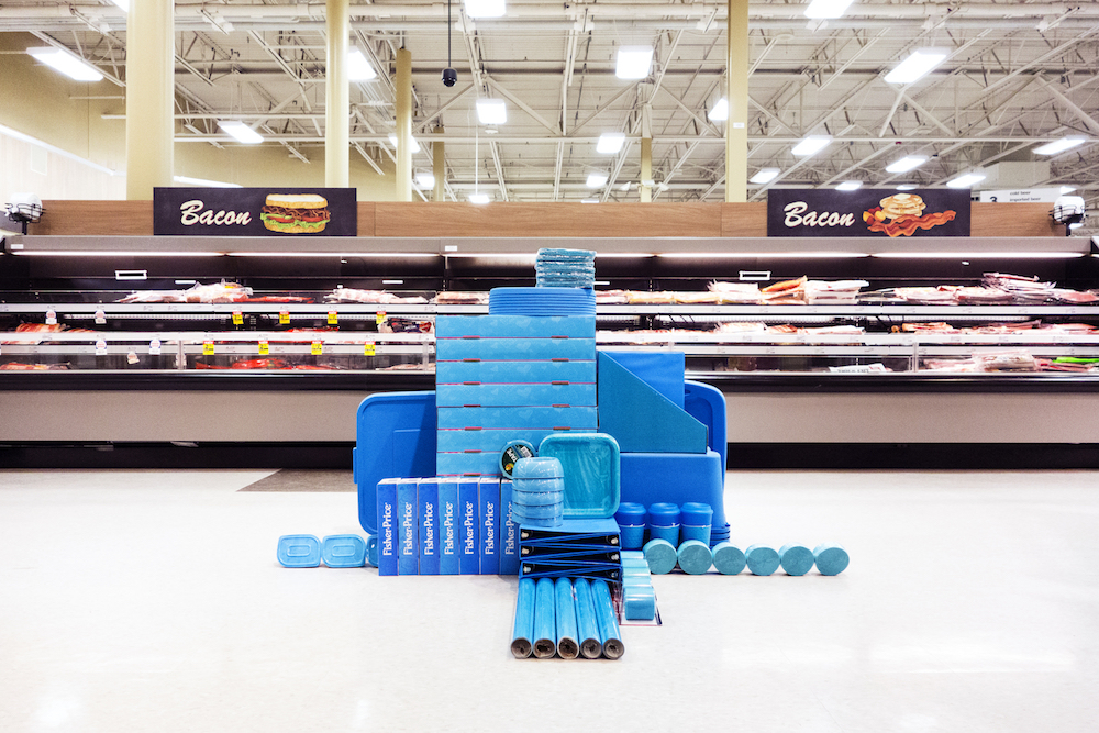 Rogue Installations of Similarly Colored Objects Inside Big-Box Stores by Carson Davis Brown