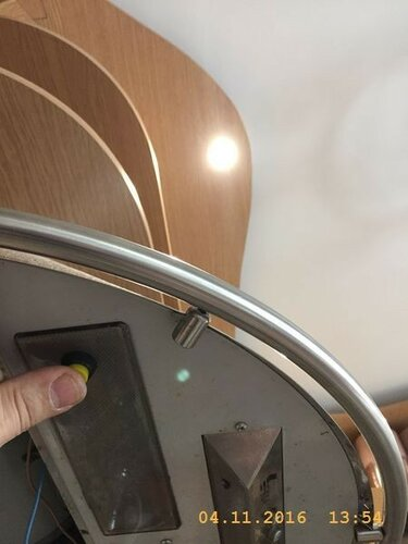 Установил новый выключатель верхних софитов
