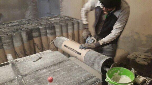 Оборудование по производству рубероида.