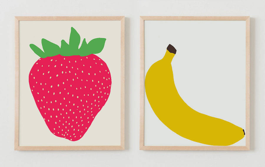 Sweet Graphic Prints from Childhood