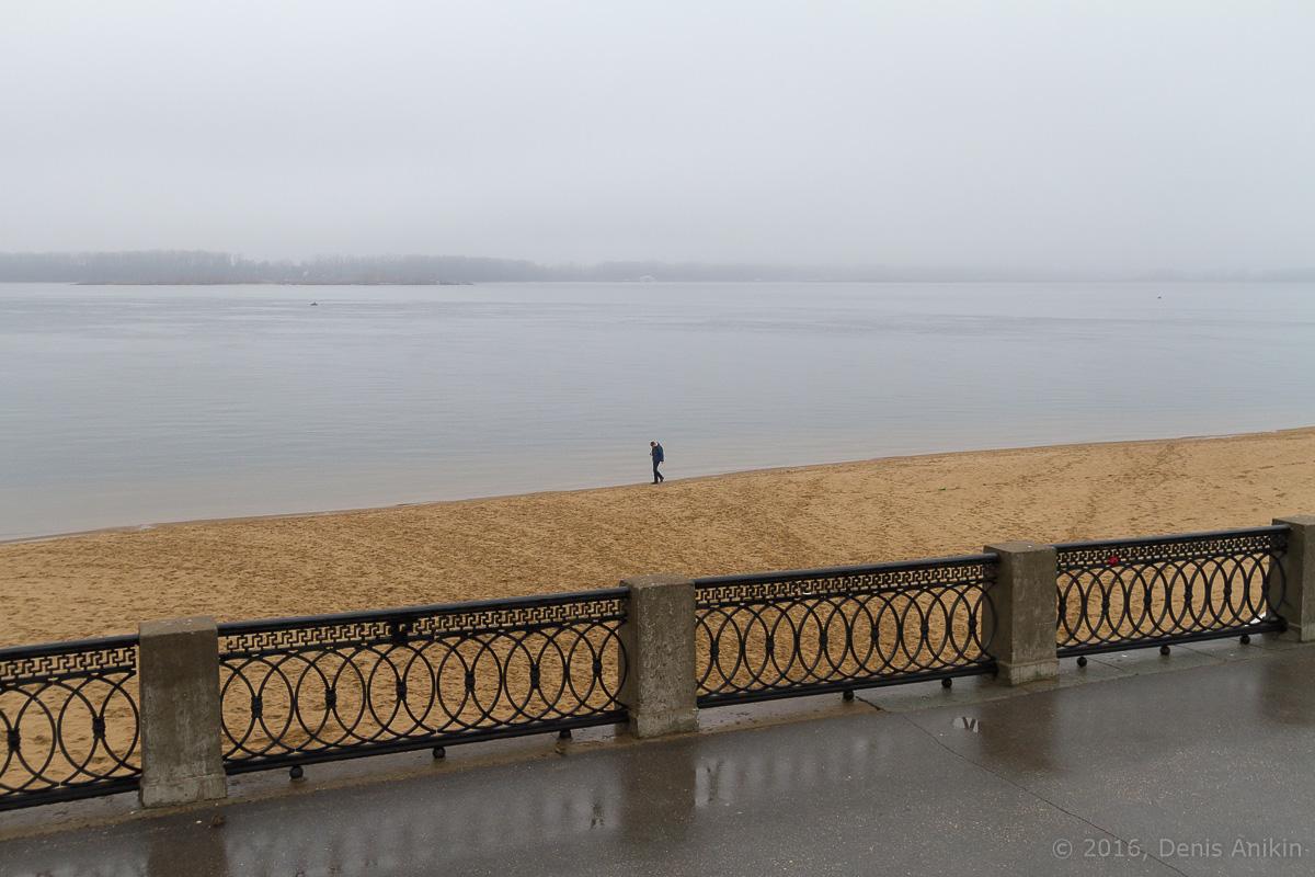 Самара набережная туман дождь фото 6