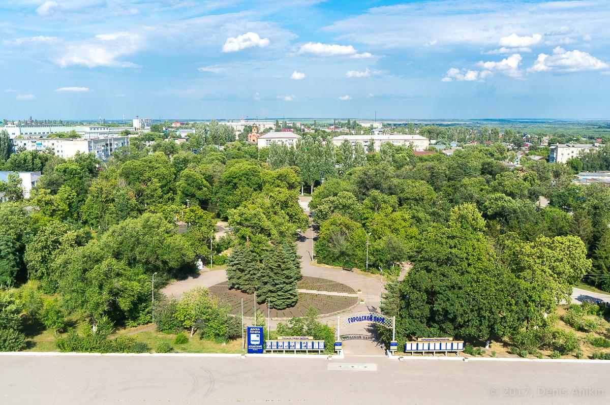 Аткарск городской парк с высоты аэросъёмка фото 1
