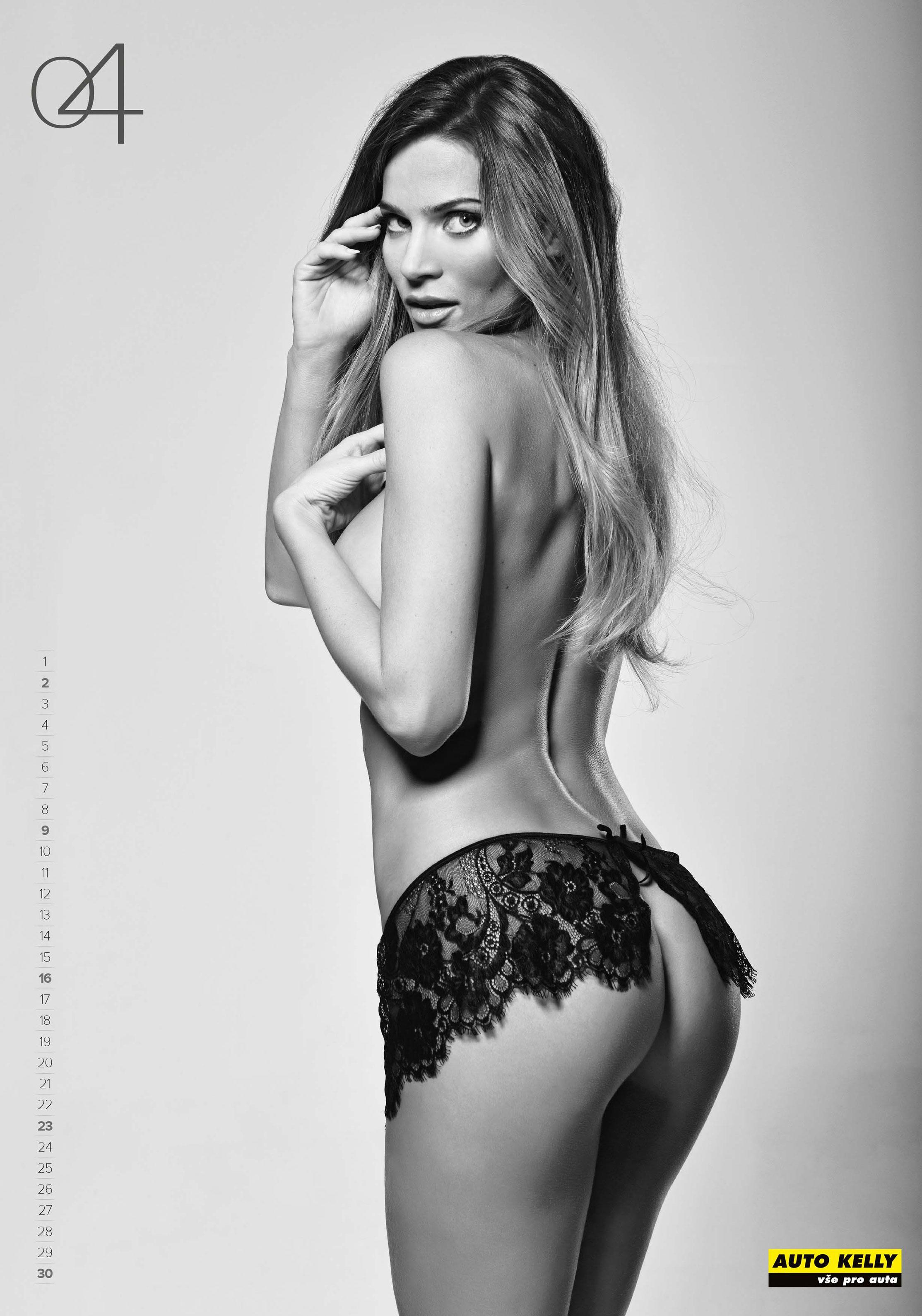 Мисс Словакия Андреа Вересова / Andrea Veresova - Auto Kelly 2017 calendar