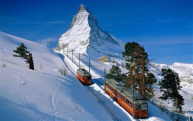 Горнолыжный курорт Церматт. Швейцария