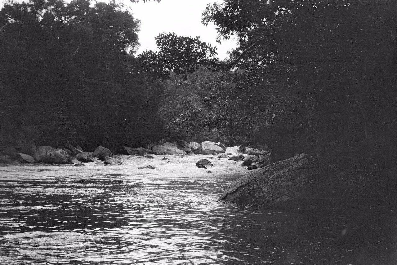 96. Пороги на реке  Гал-Оя.  Гал-Оя - река в восточной части Цейлона. Она течет меж холмов к востоку от Бадуллу