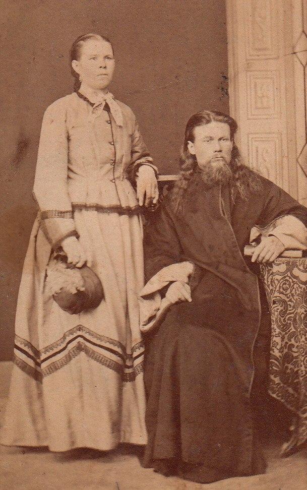 Священник Троицкой церкви на Зелене - Алексеев Николай Павлович и его жена Надежда Аристарховна