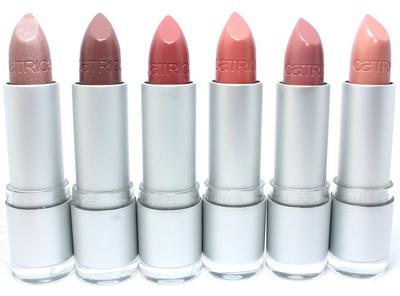 Цветовой ряд помады Catrice Luminous Lips