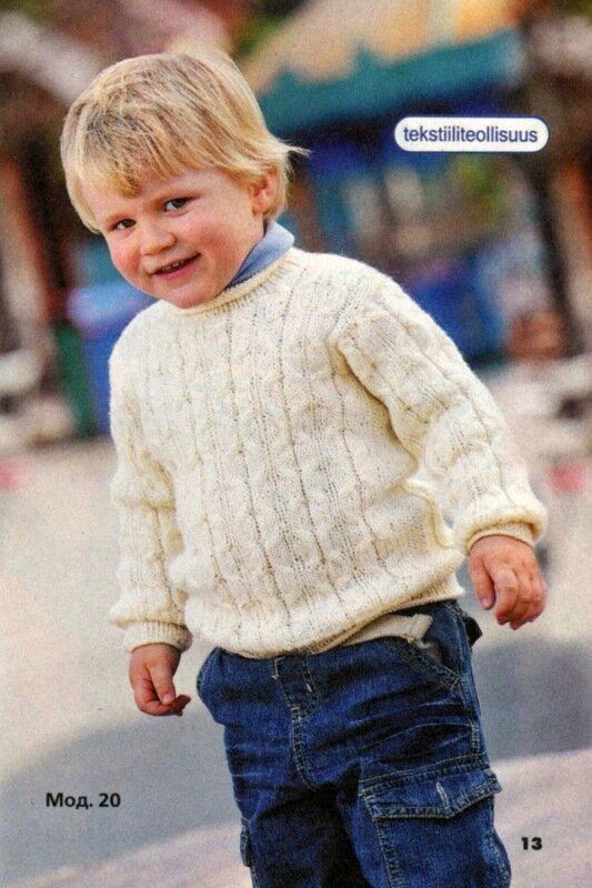 Пуловер на мальчика 2, 3, 4 лет связан без швов. вяжется этот пуловер круговыми спицами.  Следуйте.