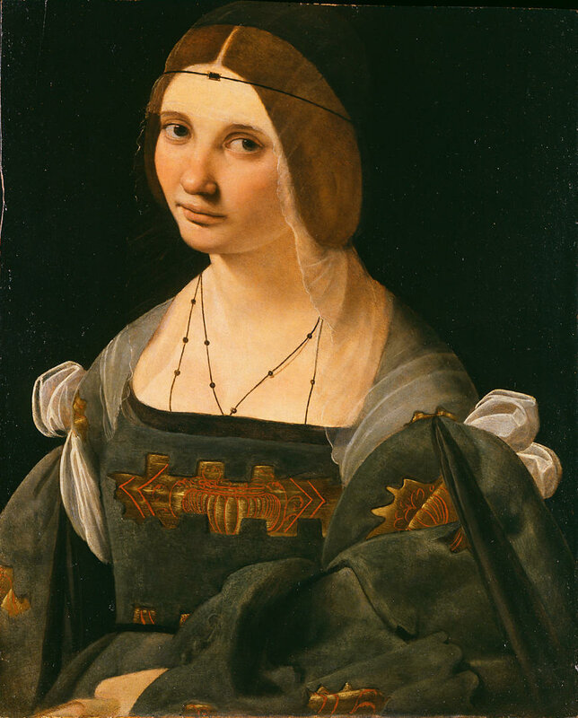 Giovanni Antonio Boltraffio Dama in grigio (1500 ca)