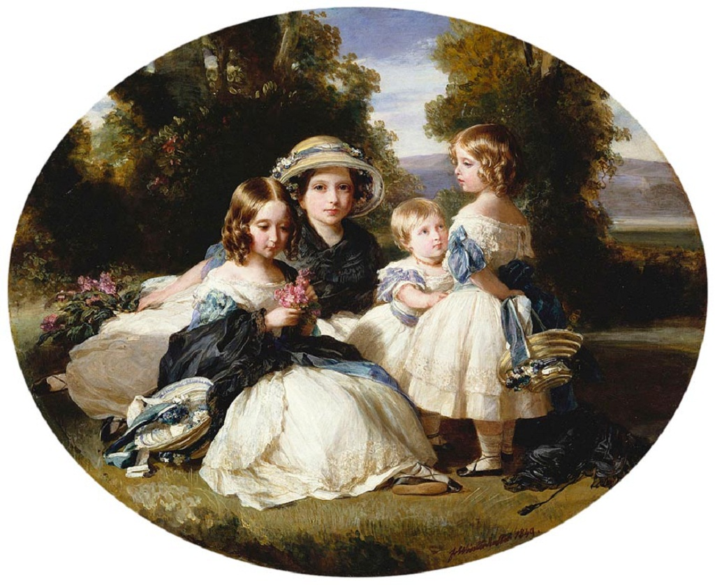 Princesses Alice, Victoria, Louise and Helena 1849