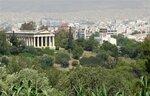 За храмом Гефеста - многомиллионный город