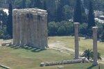Остатки храма Зевса, вид с Акрополя