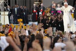 встреча Папы с миланской молодежью