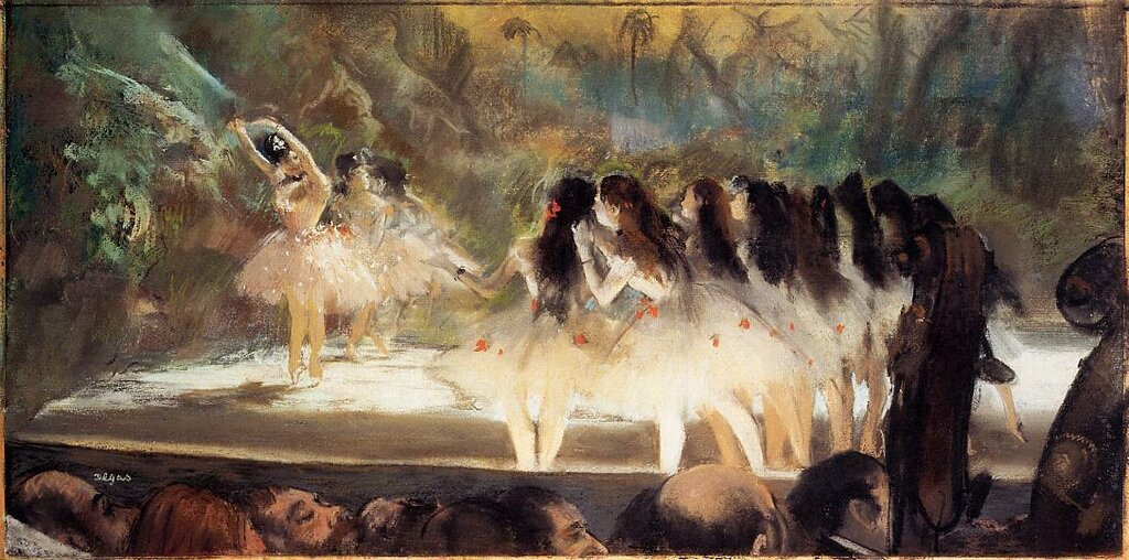 Ballet at the Paris Opers - 1877 - The Art Institute of Chicago (United States) - Drawing - pastel.jpg