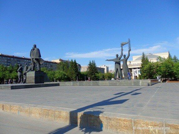 Новосибирск. Памятник Ленину