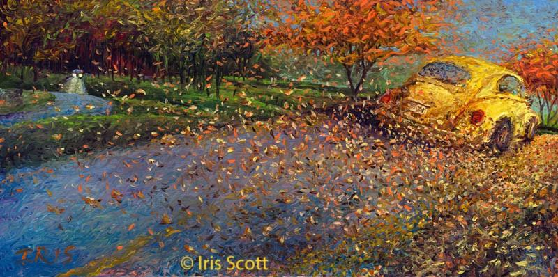 Рисунки пальцами - Художница Iris Scott