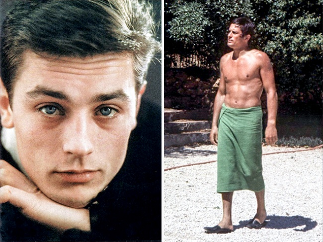 Вэто время эталоном мужской красоты был Ален Делон: загорелый, атлетичный молодой человек смальчиш