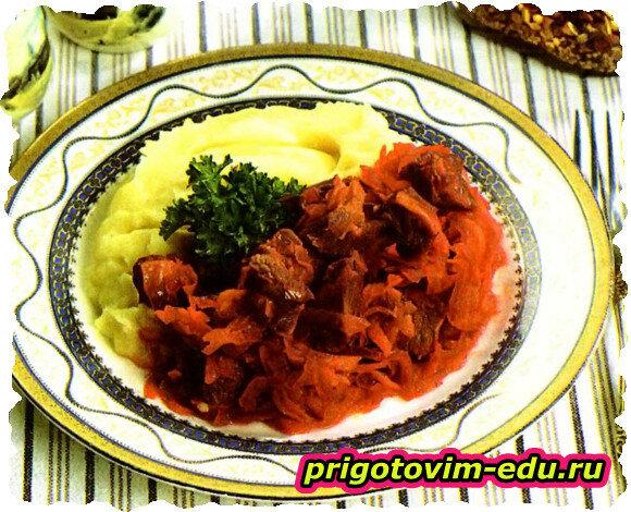 Тушенные с мясом овощи (Бабушкин рецепт)