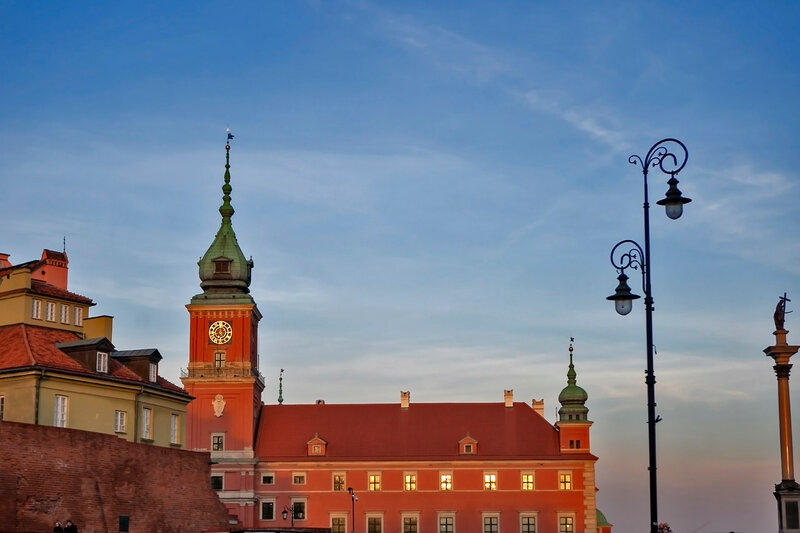 The Royal Castle in the Castle Square, at the entrance to the Warsaw Old Town
